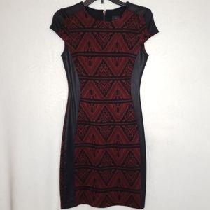 Karen Kane Burgundy & Black Mini Dress